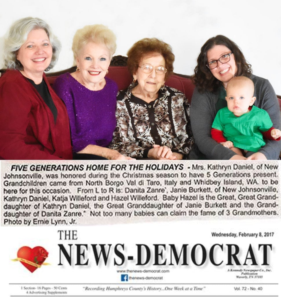 Five Generations in Tennessee